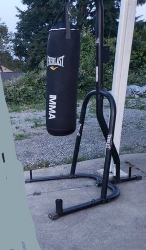 Everlast punchingbag w/ stand and speedbag for Sale in Seattle, WA