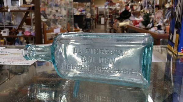 Dr. Pierce's Golden Medical Discovery bottle circa 1890-1900