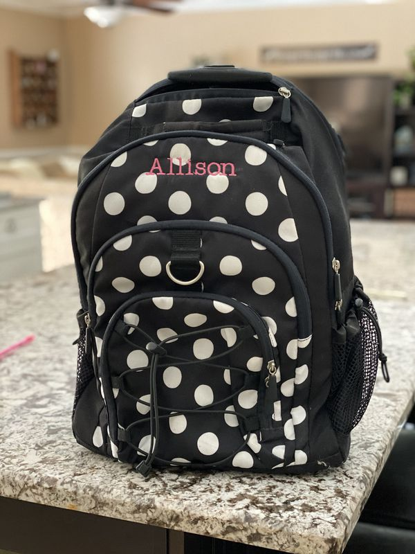 Pottery barn teen rolling book bag. Personalized name :Allison