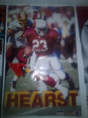 1993 NFL STARLINE ARIZONA CARDINALS #23 HEARST POSTER for Sale in Tempe, AZ