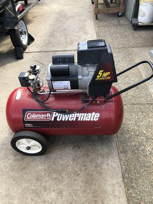 Coleman Powermate 5hp 20 Gallon Air Compressor for Sale in Manteca, CA