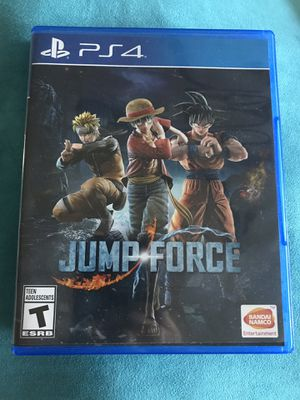 Jump Force - PS4 w/ Poster and Character Pass for Sale in Payson, AZ