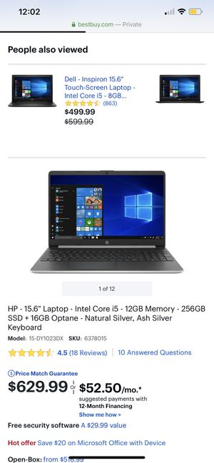 """Hp laptop 15"""" for Sale in Waldorf, MD"""