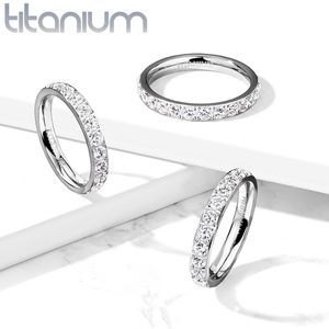 New tituiam silver ring with CZs size available 4, 4.5, 5, 6, 6.5,7, 7.5, 8, 10 for Sale in Winter Haven, FL