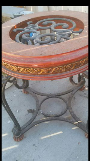 Antique wood / metal table no glass for Sale in Las Vegas, NV