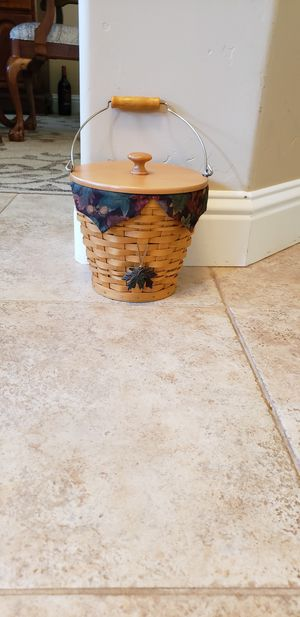 Longaberger 2002 Classic Autumn Pail Basket set - Price Reduced! for Sale in Shingle Springs, CA