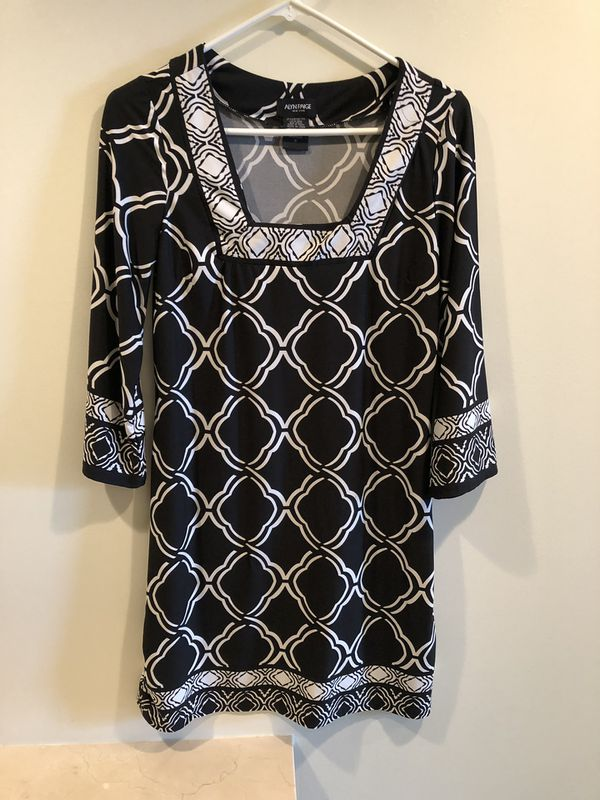 Alyn Paige Tunic Black White Stretchy Small Summer Career Dress. Smoke free home.