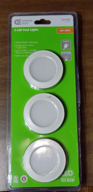 3 LED Puck lights for Sale in Norwich, NY