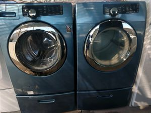 """SAMSUNG"" FRONTLOADER WITH PEDESTALS MATCHING SET WASHER AND ELECTRIC DRYER KING SIZE CAPACITY for Sale in Phoenix, AZ"