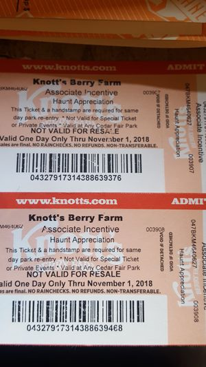 Knots berry farm tickets for Sale in US