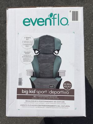 Brand New Convertible Car Seat High Back Booster to No Back Booster Baby Kids 2Cup Holders for Sale in Hialeah, FL