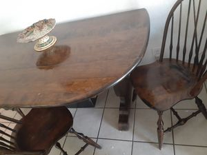 Dining table with 4 chairs. Heavy oak wood for Sale in San Bernardino, CA