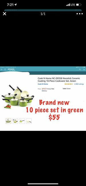 Cook n home nonstick Ceramic coating cookware Pan set for Sale in Chicago, IL