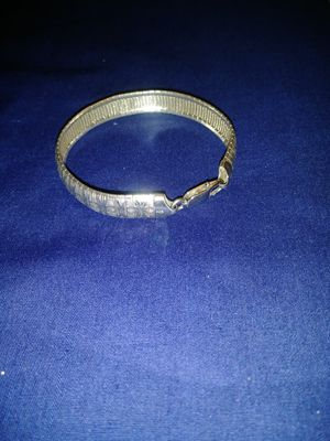 ITALY 925 SILVER. SOLID BRACELET WITH ENGRAVED for Sale in Sunrise, FL