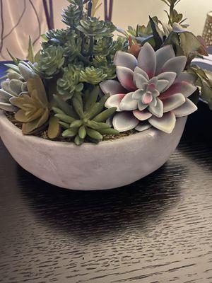 Succulent faux plant pot home decor for Sale in Royal Oak, MI