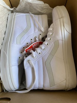 White Vans Brand New Sz W7.5 M6 for Sale in Seattle, WA