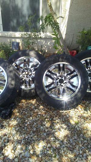 Pinnacle rims whit tires 6 holes univerasal for Sale in Scottsdale, AZ