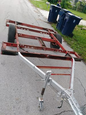 Bare frame trailer 8 by 5 + foot it had old wood on it I took it all off for Sale in Tampa, FL