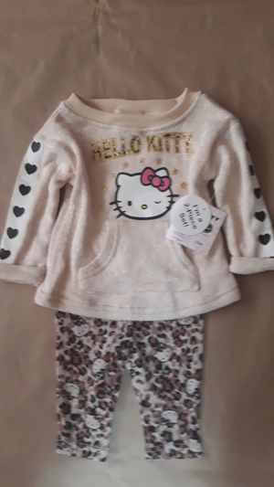 Hello kitty girls 2pcs tops+pant sz 3/6M for Sale in Fort Worth, TX