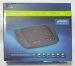 Brand new Wireless Router & Modem Cisco Linksys X2000 ADSL2+ N300 Wireless-B/G/N 2.4 GHz for Sale in Tolleson, AZ