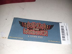 Two Wings over washington tickets. for Sale in Seattle, WA