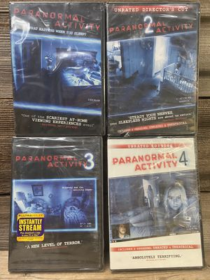 PARANORMAL ACTIVITY DVDs #1-4 - New and sealed for Sale in Orange, CA