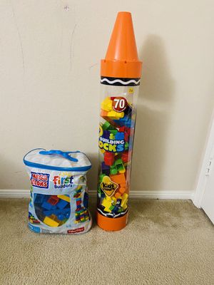 Mega blocks first builder and crayon tube for Sale in La Habra Heights, CA