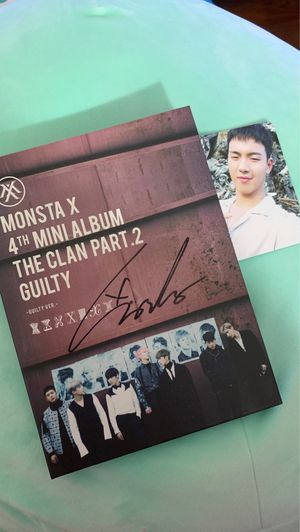 Wonho Signed Monsta X The Clan Pt. 2 | Guilty Version for Sale in Ontario, CA