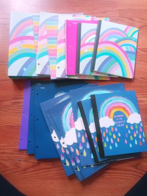 Folders, notebooks, and a Binder bundle for Sale in Columbus, OH