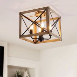 Industrial Rectangle Ceiling Light for Sale in Lake View Terrace,  CA