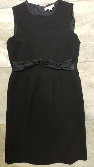 Behnaz Sarafpour size 4 little black dress button and zip up in the back sleeveless babydoll goth punk alternative Halloween costume drag for Sale in Scottsdale, AZ