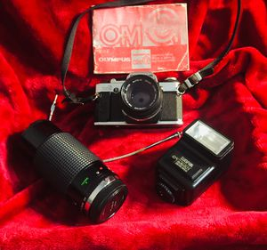 Olympus OM-G Digital 35mm Camera With 4 Lenses - Manual - A Flash & Carrying Case for Sale in North Little Rock, AR