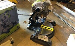 Ryobi miter saw. and NEW 18v black and decker Cordless drill for Sale in Silverdale, WA