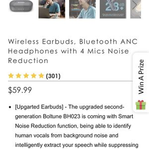 Wireless Active Noise Cancelling Earbuds for Sale in Kissimmee, FL