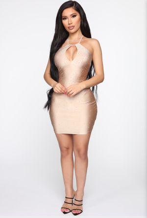 FASHION NOVA NUDE BEDAZZLED DRESS SIZE SMALL for Sale in Glendale, CA