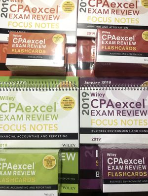 Wiley CPAexcel Exam Review 2019 Study Guide Complete Set Four BOOKS + Extras!! for Sale in Forestville, MD