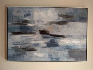 Silvia Vassileva's Clear Water Indigo and Gray Gallery Wrapped Canvas Wall Art for Sale in San Diego, CA