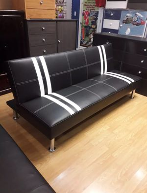 Brand New Faux Leather Futon Sofa Bed for Sale in Silver Spring, MD