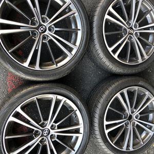 Rims tires 17 5x100 Scion Subaru Toyota Corolla Prius Matrix for Sale in Santa Ana, CA