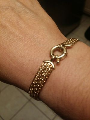 "14KT Yellow Gold Mesh Bracelet 7"" inches 8.6 grams! for Sale in PT CHARLOTTE, FL"