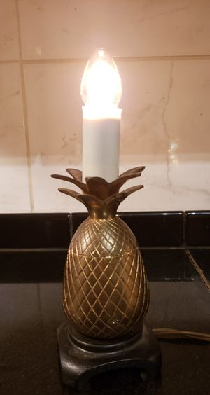 Vintage Solid Brass Pineapple Lamp Small for Sale in Winston-Salem, NC