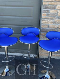 Brand New! $60 Each 3 Blue Bar Stools for Sale in Orlando,  FL
