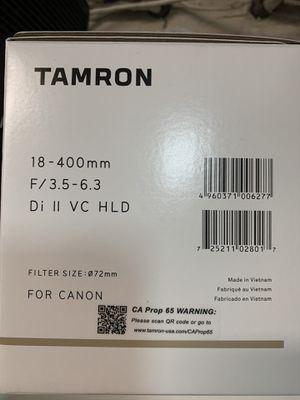 Tamron 18-400 DI Ii va for cañón for Sale in Laguna Hills, CA