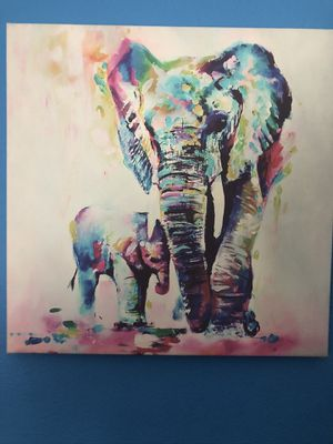 Elephant Canvas Painting for Sale in Colorado Springs, CO