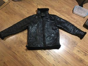 B-3 GENUINE LEATHER FUR BOMBER JACKET for Sale for sale  Lockport, IL