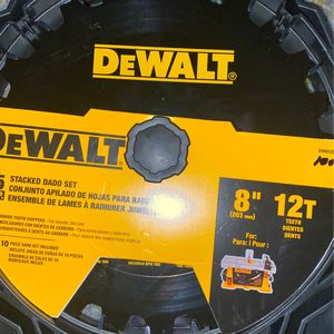 DEWALT 8-in 12-Tooth Carbide Dado Miter/Table Saw Blade for Sale in SeaTac, WA