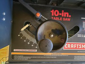 10 inch table saw made by craftsman use 2x time if lucky $150 for Sale in Middlesex, NJ