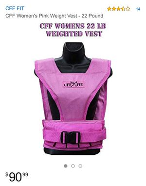 Cff woman weight vest 50 lbs (not 22 lbs like in the pic) for Sale in Tampa, FL
