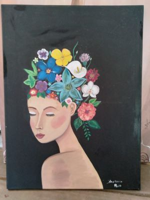 Flowers in my mind acrylic painting for Sale in Gulfport, FL