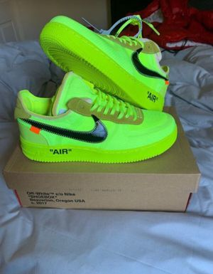 Off White Air Force 1 Volt for Sale in Alexandria, VA